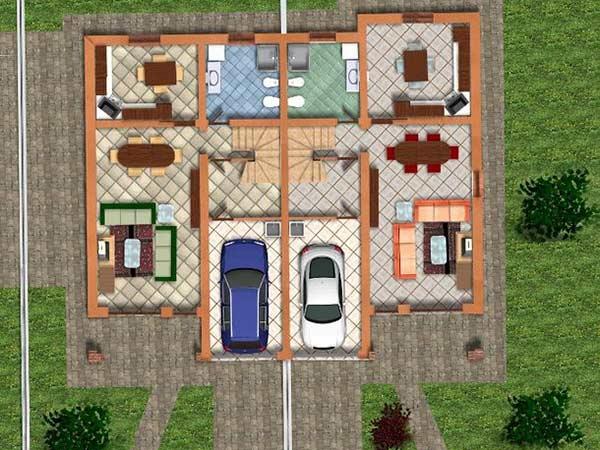 Casa nuova costruzione guastalla fabbrico vendita for Ville bifamiliari moderne